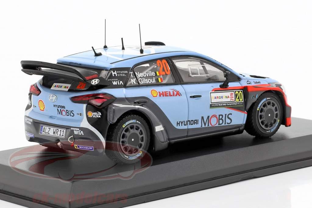 Hyundai i20 WRC #20 Winner Rallye Italien Sardinien 2016 Neuville, Gilsoul 1:43 Ixo