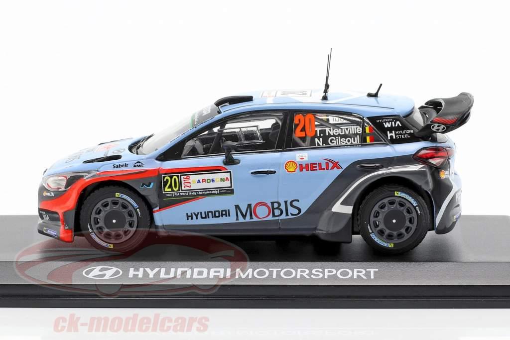 Hyundai i20 WRC #20 Winner Rallye Italië Sardinië 2016 Neuville, Gilsoul 1:43 Ixo