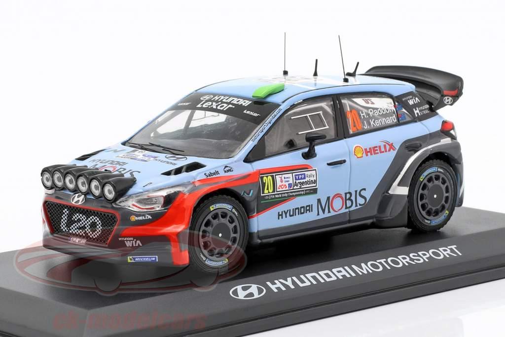 Hyundai i20 WRC #20 gagnant Rallye Argentine 2016 Paddon, Kennard 1:43 Ixo
