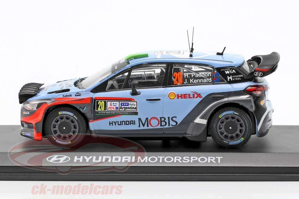 Hyundai i20 WRC #20 ganador Rallye Argentina 2016 Paddon, Kennard 1:43 Ixo
