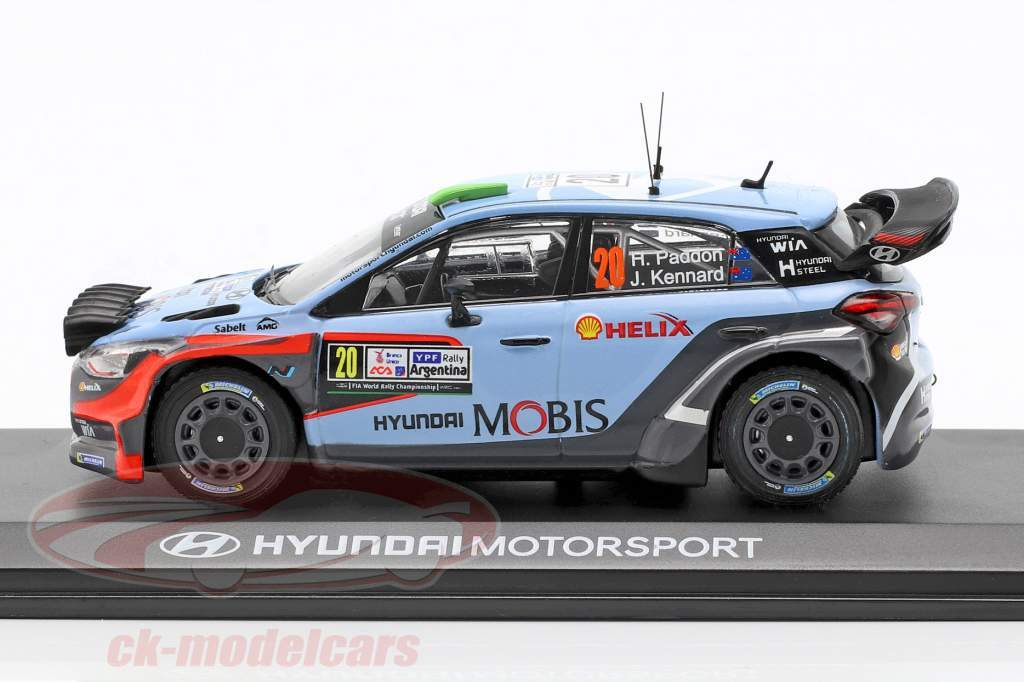 Hyundai i20 WRC #20 vincitore Rallye Argentina 2016 Paddon, Kennard 1:43 Ixo