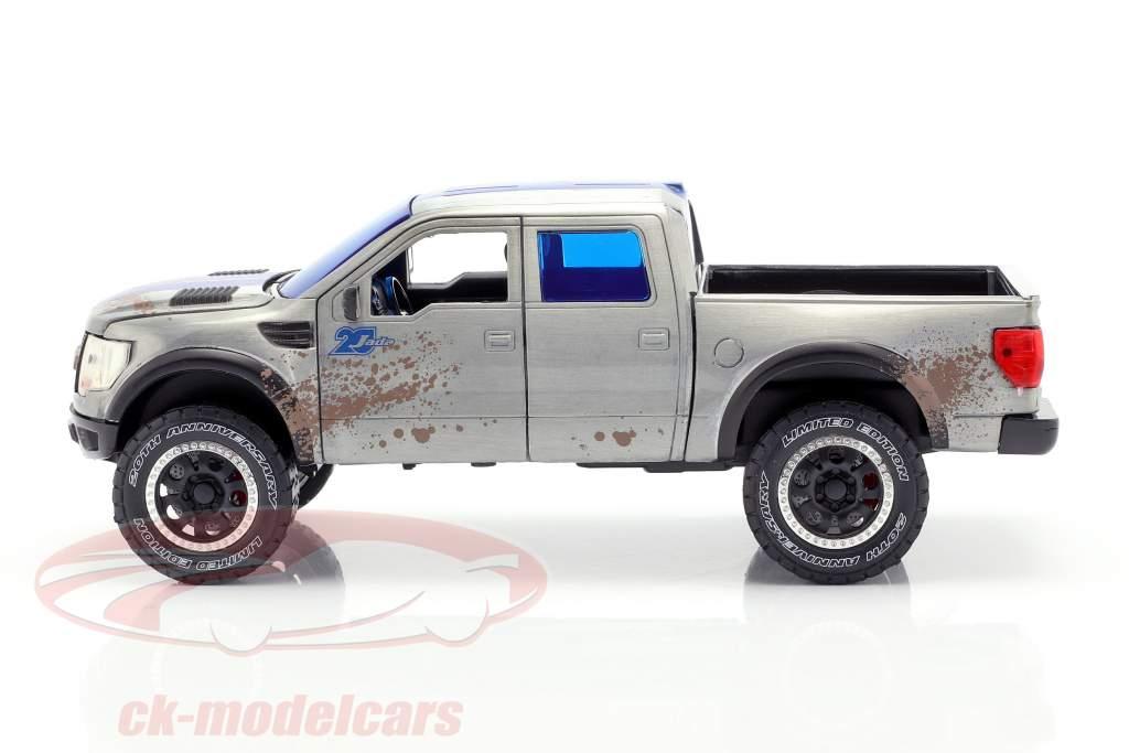 Ford F-150 SVT Raptor Baujahr 2011 silbergrau / blau 1:24 Jada Toys