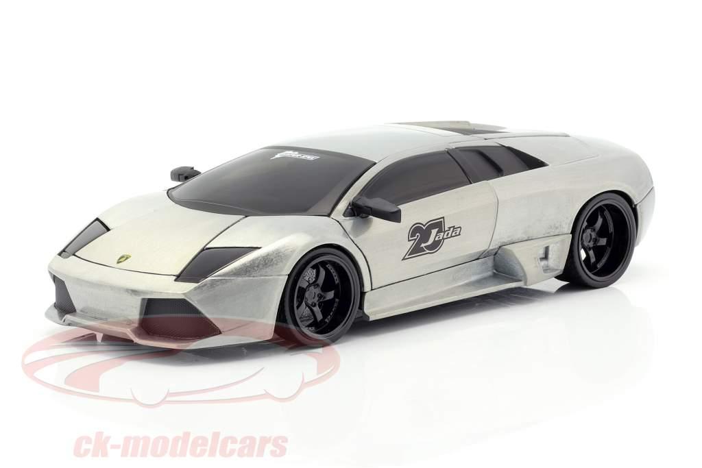 Lamborghini Murcielago zilvergrijs 1:24 Jada Toys
