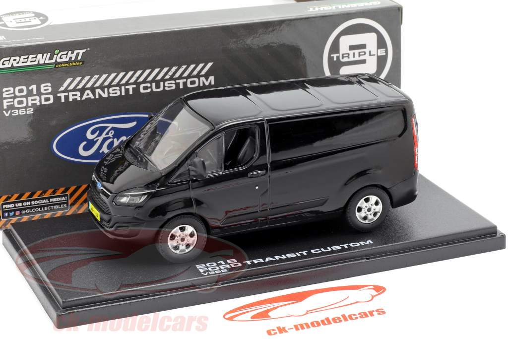 Ford Transit Custom V362 anno di costruzione 2016 nero 1:43 Greenlight