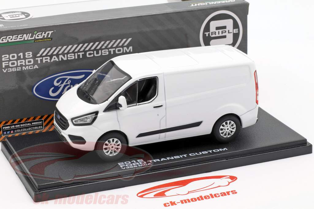 Ford Transit Custom V362 MCA année de construction 2018 blanc 1:43 Greenlight