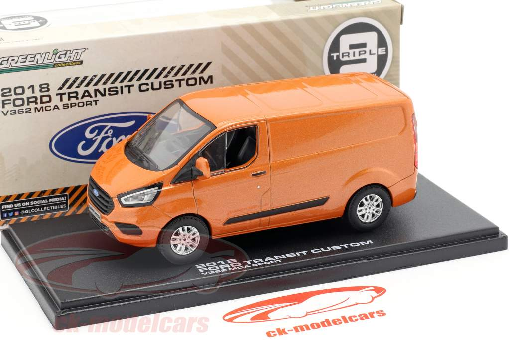 Ford Transit Custom V362 MCA Sport année de construction 2018 orange métallique 1:43 Greenlight