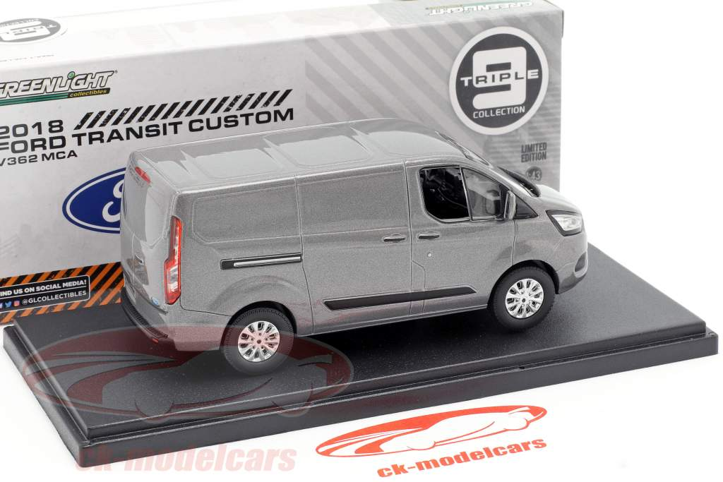 Ford Transit Custom V362 MCA année de construction 2018 gris métallique 1:43 Greenlight