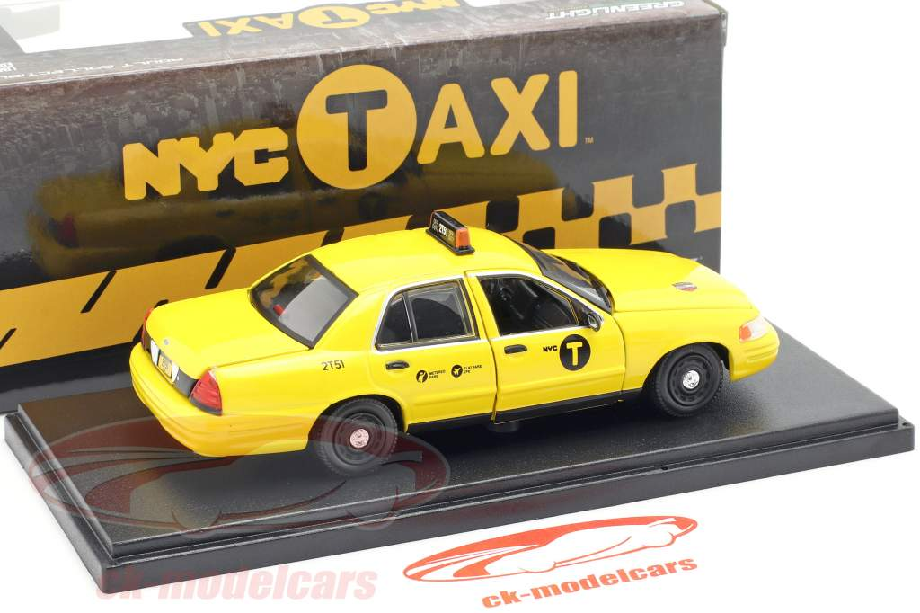 Ford Crown Victoria NYC Taxi Baujahr 2011 gelb 1:43 Greenlight