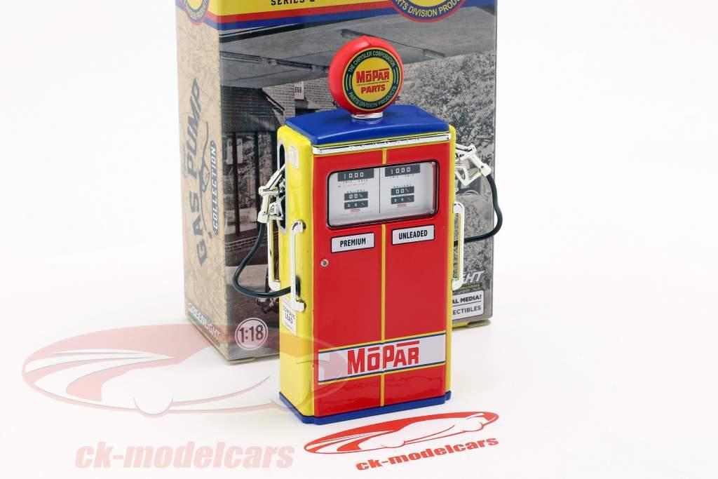 Zapfsäule Mopar Parts rot / gelb / blau 1:18 Greenlight