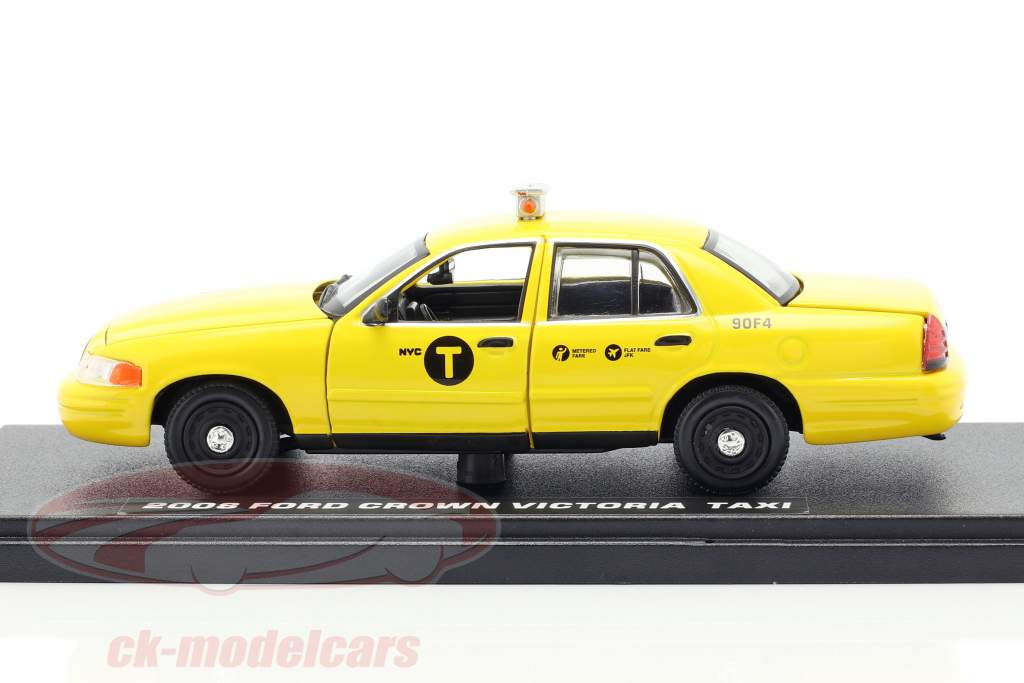 Ford Crown Victoria taxi année de construction 2008 film John Wick 2 (2017) jaune 1:43 Greenlight