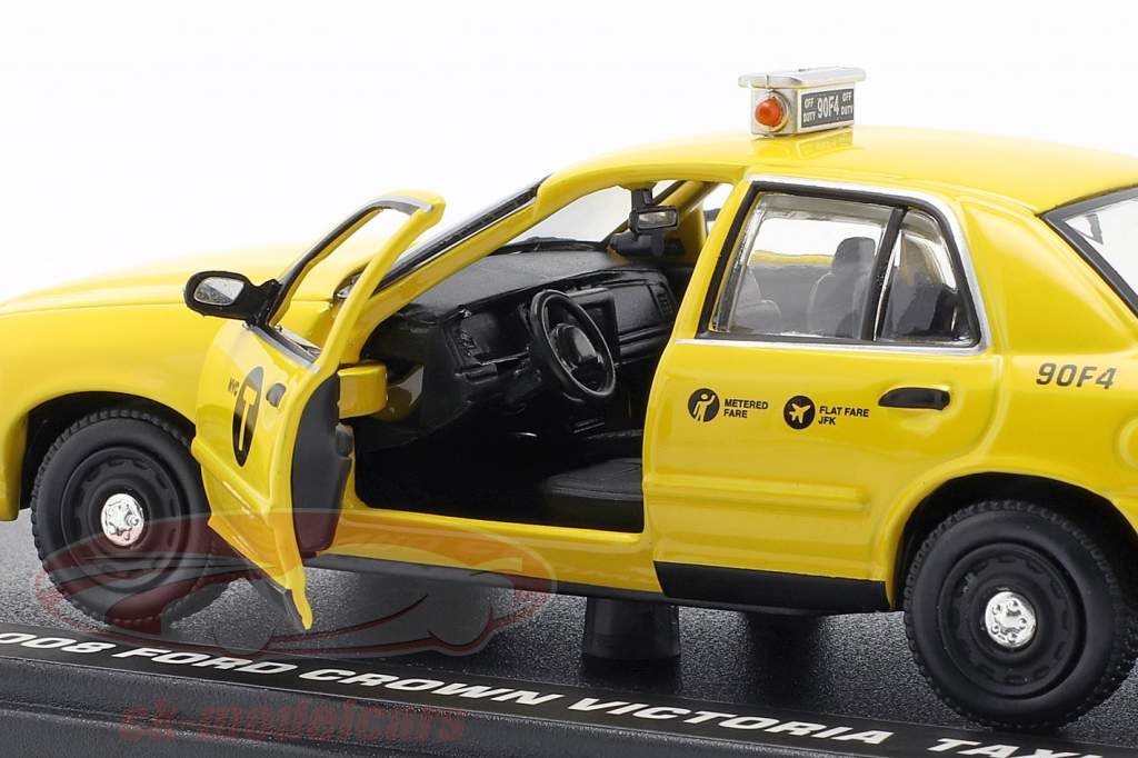 Ford Crown Victoria taxi anno di costruzione 2008 film John Wick 2 (2017) giallo 1:43 Greenlight