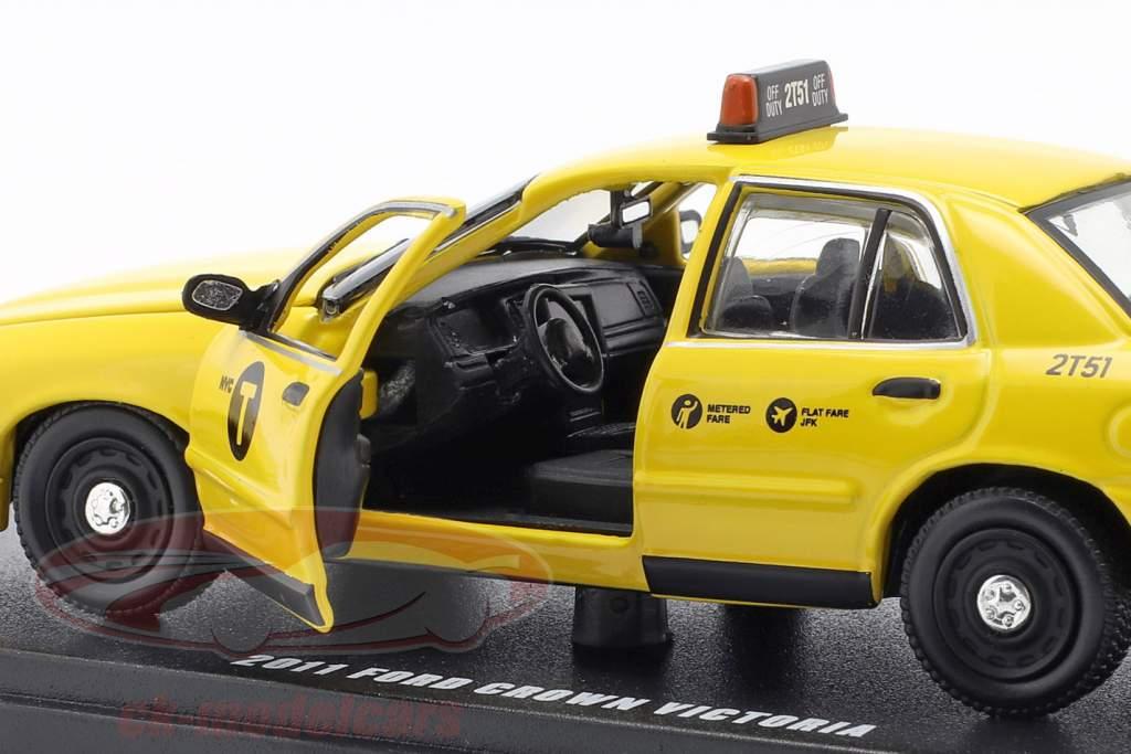 Ford Crown Victoria NYC taxi anno di costruzione 2011 giallo 1:43 Greenlight