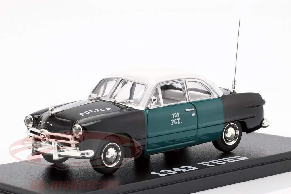 Ford NYPD anno di costruzione 1949 verde / nero / bianco 1:43 Greenlight