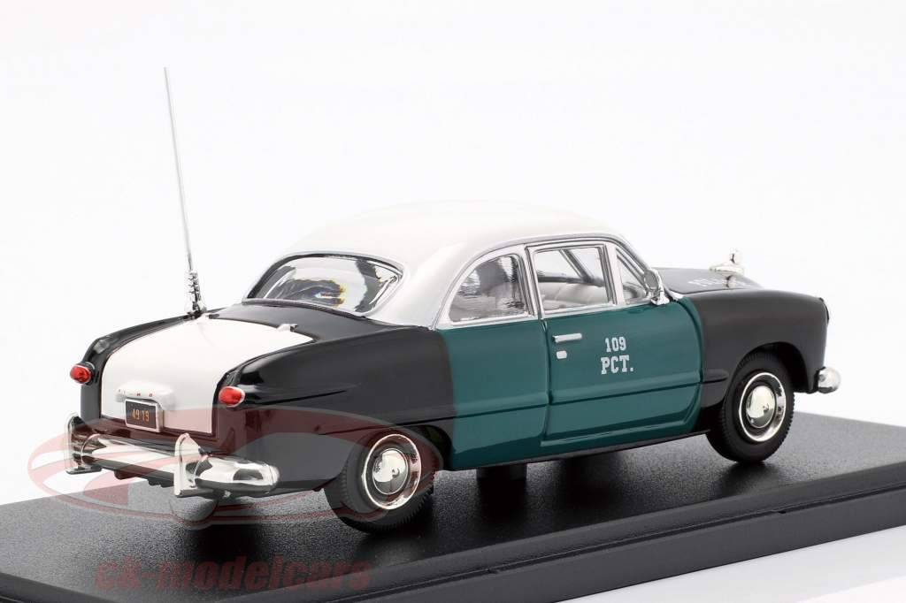 Ford NYPD année de construction 1949 vert / noir / blanc 1:43 Greenlight