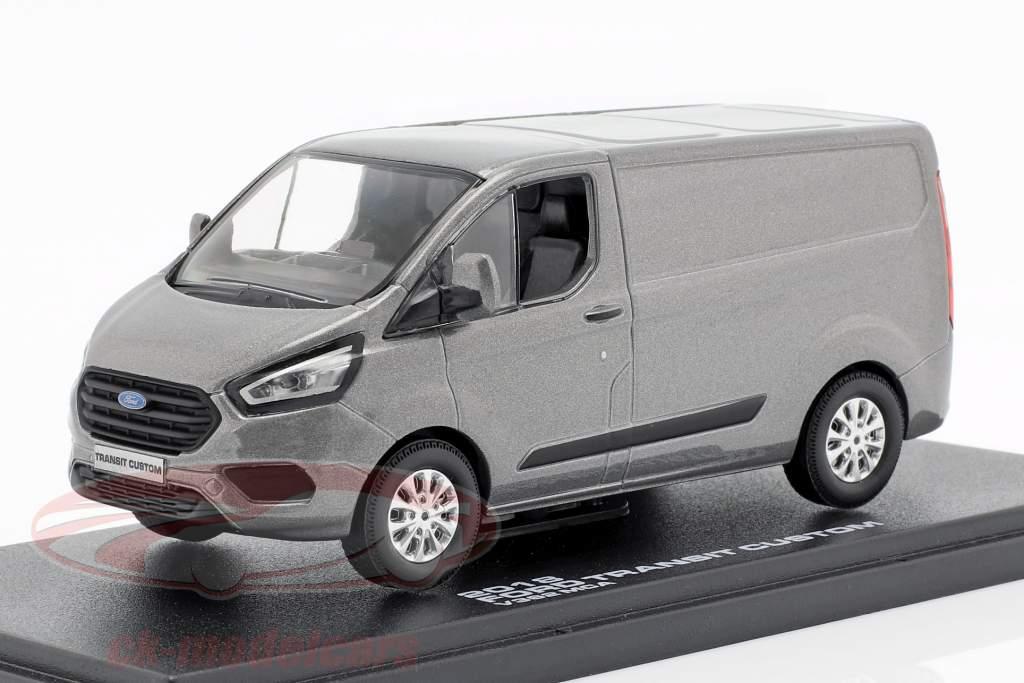 Ford Transit Custom V362 MCA Bouwjaar 2018 grijs metalen 1:43 Greenlight