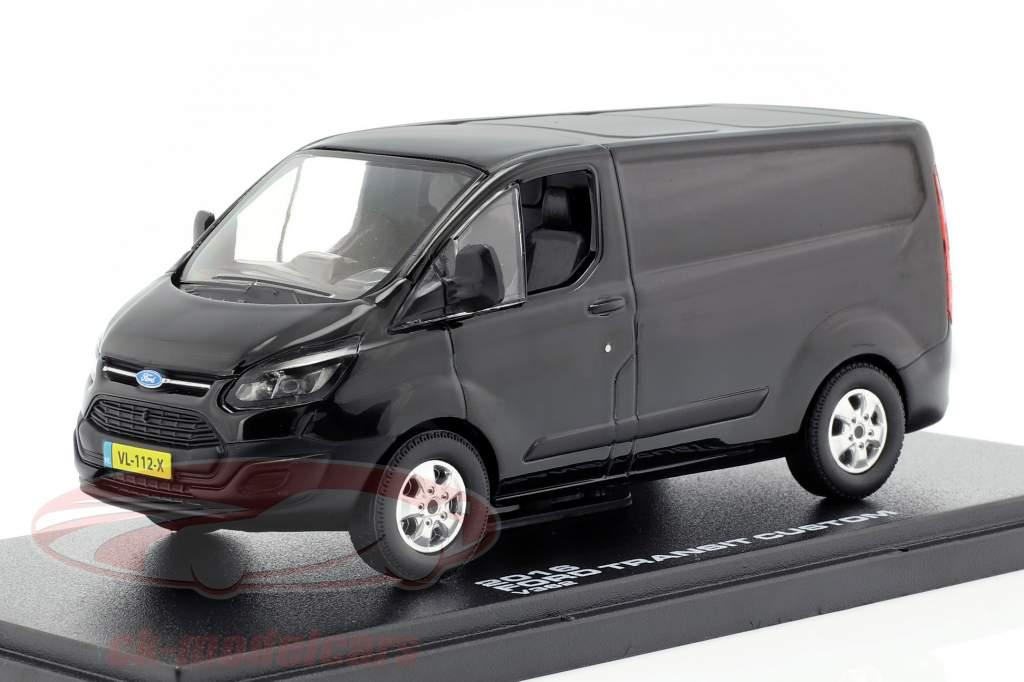 Ford Transit Custom V362 Bouwjaar 2016 zwart 1:43 Greenlight