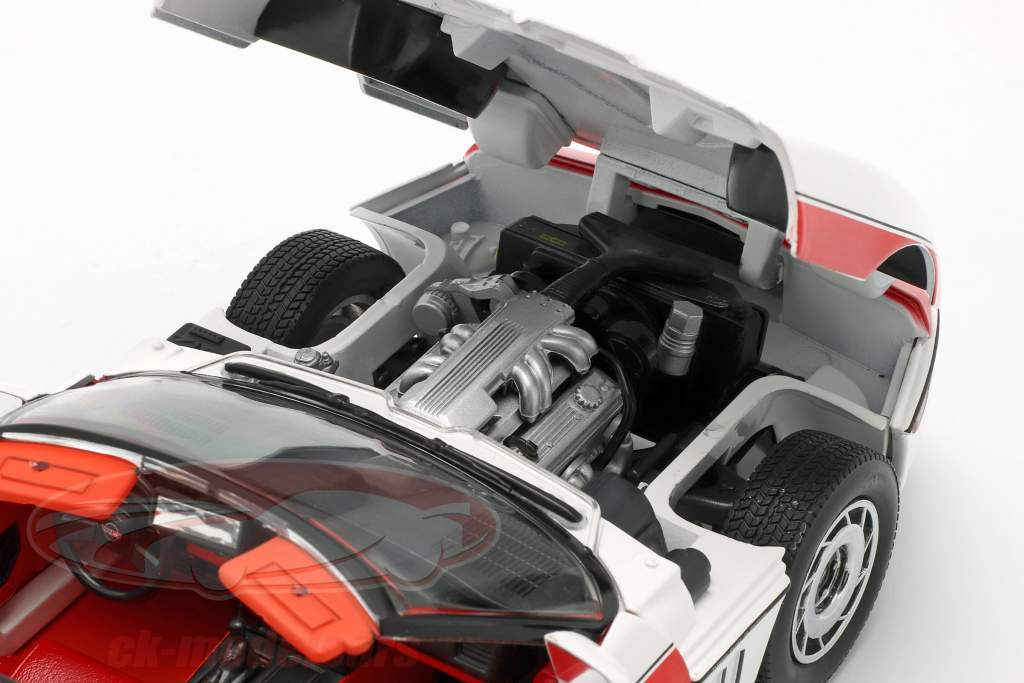 Chevrolet Corvette C4 Bouwjaar 1984 tv-serie de A-Team (1983-87) wit / rood 1:18 Greenlight