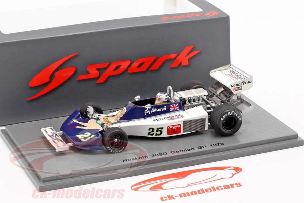 Guy Edwards Hesketh 308D #25 Duits GP formule 1 1976 1:43 Spark