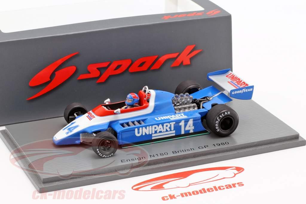 Jan Lammers Ensign N180 #14 britannique GP formule 1 1980 1:43 Spark