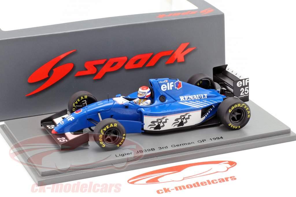 Eric Bernard Ligier JS39B #25 3 allemand GP formule 1 1994 1:43 Spark