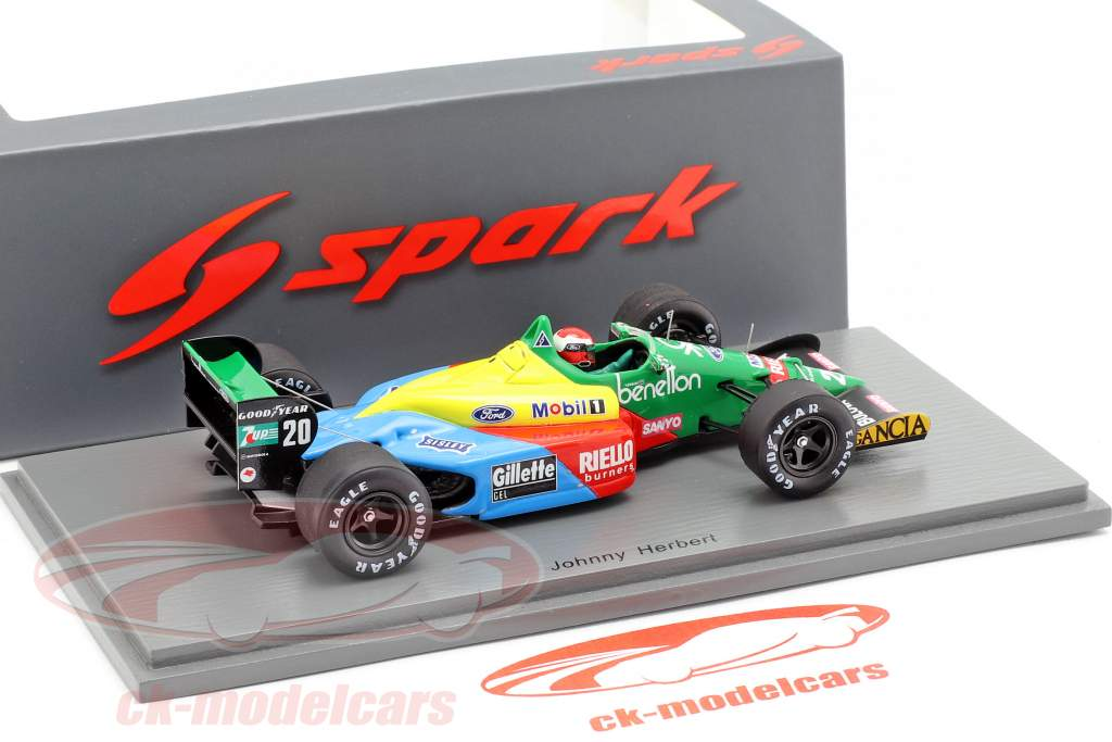 Johnny Herbert Benetton B188 #20 4th Brazil GP formula 1989 1:43 Spark