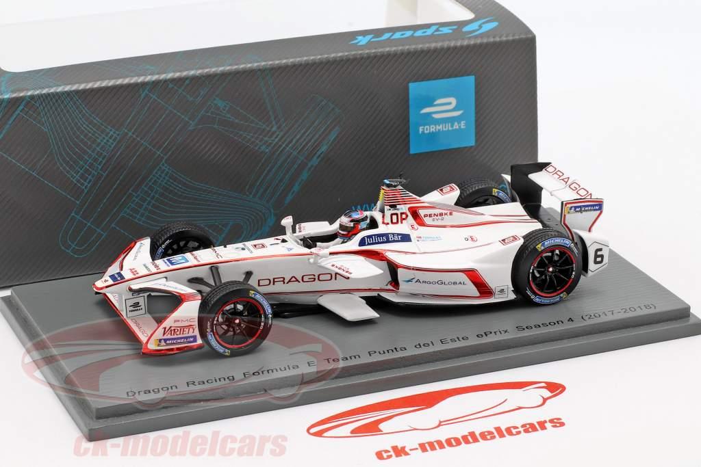 José María López Penske EV-2 #6 Punta del Este ePrix fórmula E 2017/18 1:43 Spark