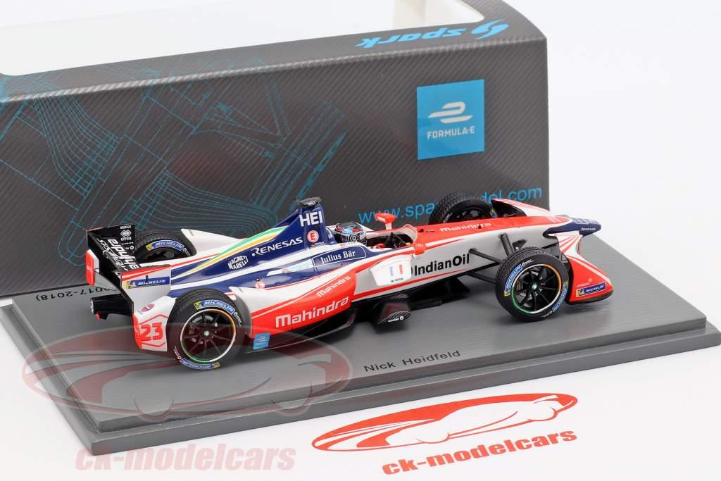 Nick Heidfeld Mahindra M4Electro #23 tercero Hong Kong fórmula E 2017/18 1:43 Spark