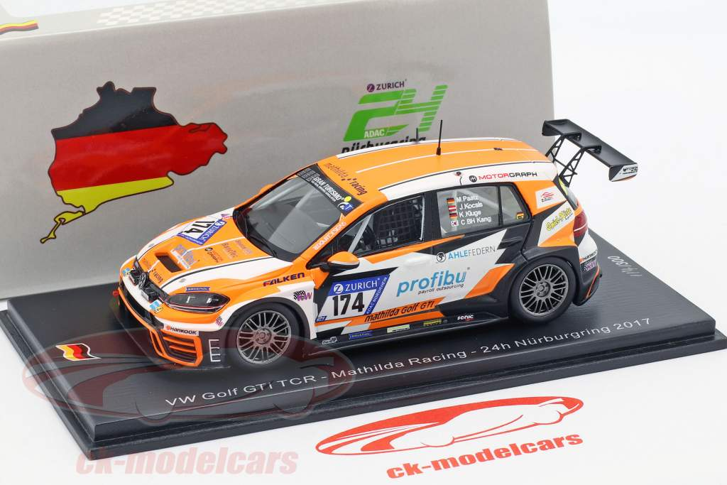 Volkswagen VW Golf GTI TCR #174 24h Nürburgring 2017 Mathilda Racing 1:43 Spark