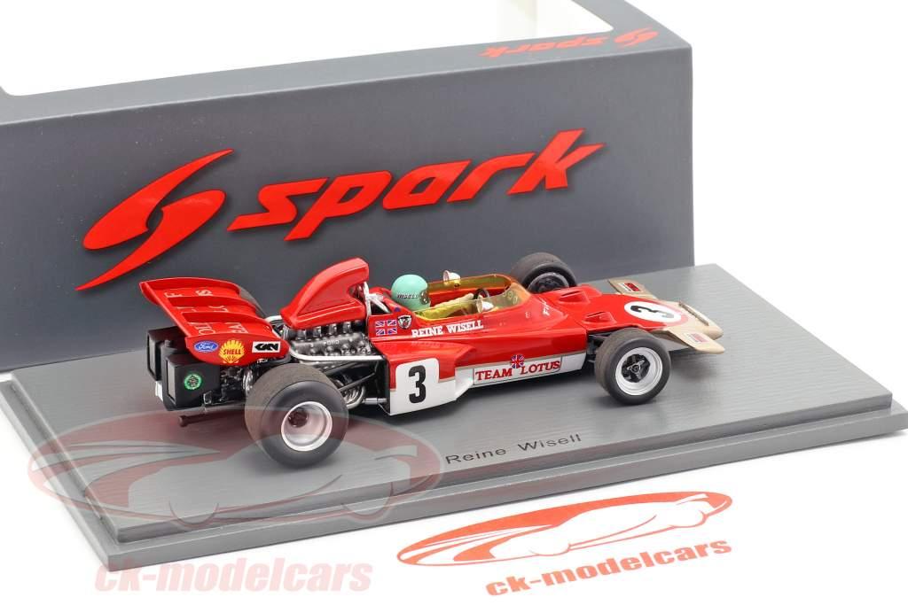 Reine Wisell Lotus 72D #3 5th Canadian GP formula 1 1971 1:43 Spark