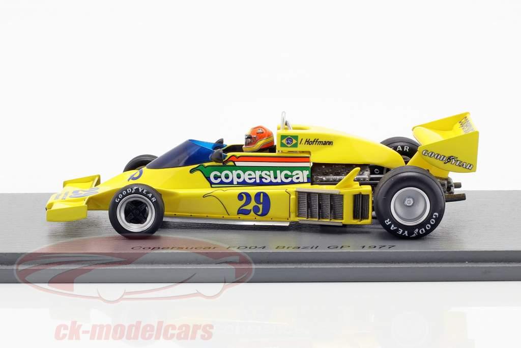 Ingo Hoffmann Copersucar FD04 #29 Brazilië GP formule 1 1977 1:43 Spark