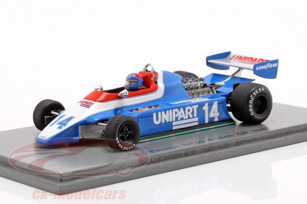 Jan Lammers Ensign N180 #14 britannico GP formula 1 1980 1:43 Spark