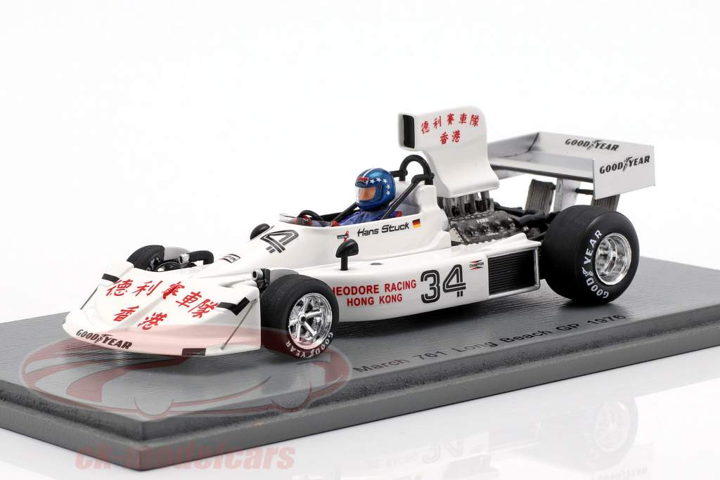 Hans-Joachim Stuck March 761 #34 Long Beach GP formel 1 1976 1:43 Spark