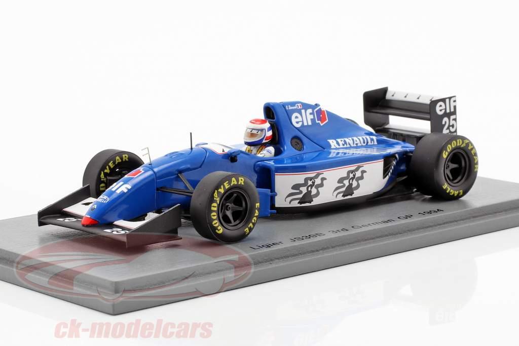 Eric Bernard Ligier JS39B #25 3ª alemão GP fórmula 1 1994 1:43 Spark