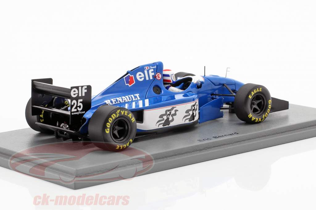 Eric Bernard Ligier JS39B #25 3rd German GP formula 1 1994 1:43 Spark