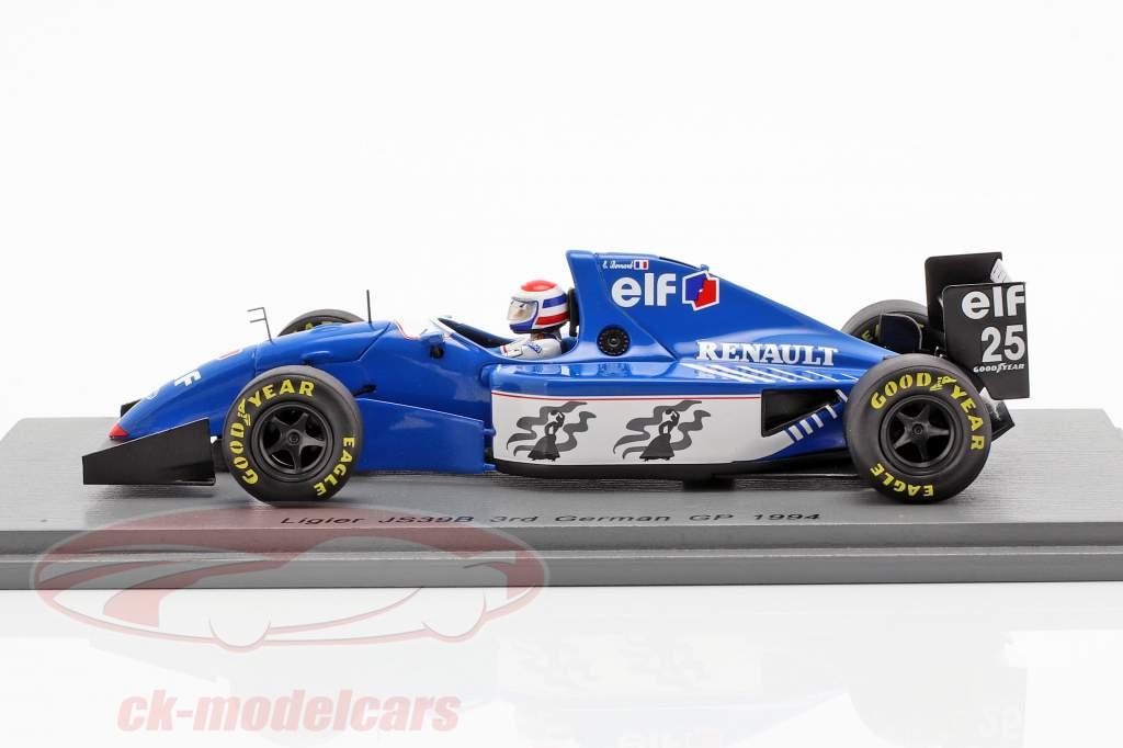 Eric Bernard Ligier JS39B #25 3rd Deutschland GP Formel 1 1994 1:43 Spark
