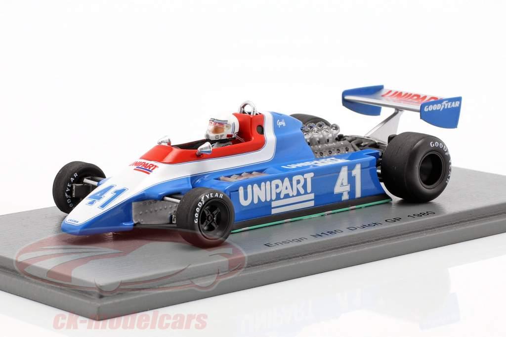 Geoff Lees Ensign N180 #41 holandés GP fórmula 1 1980 1:43 Spark
