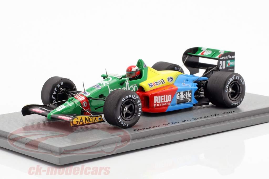 Johnny Herbert Benetton B188 #20 4ª Brasil GP fórmula 1989 1:43 Spark