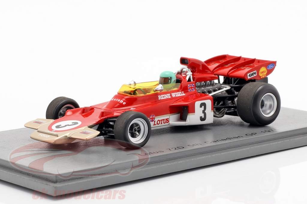 Reine Wisell Lotus 72D #3 5 canadien GP formule 1 1971 1:43 Spark