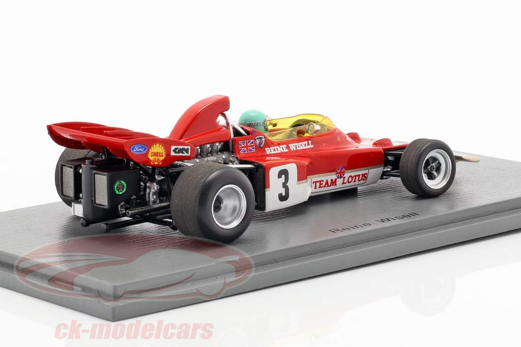 Reine Wisell Lotus 72D #3 5. canadisk GP formel 1 1971 1:43 Spark