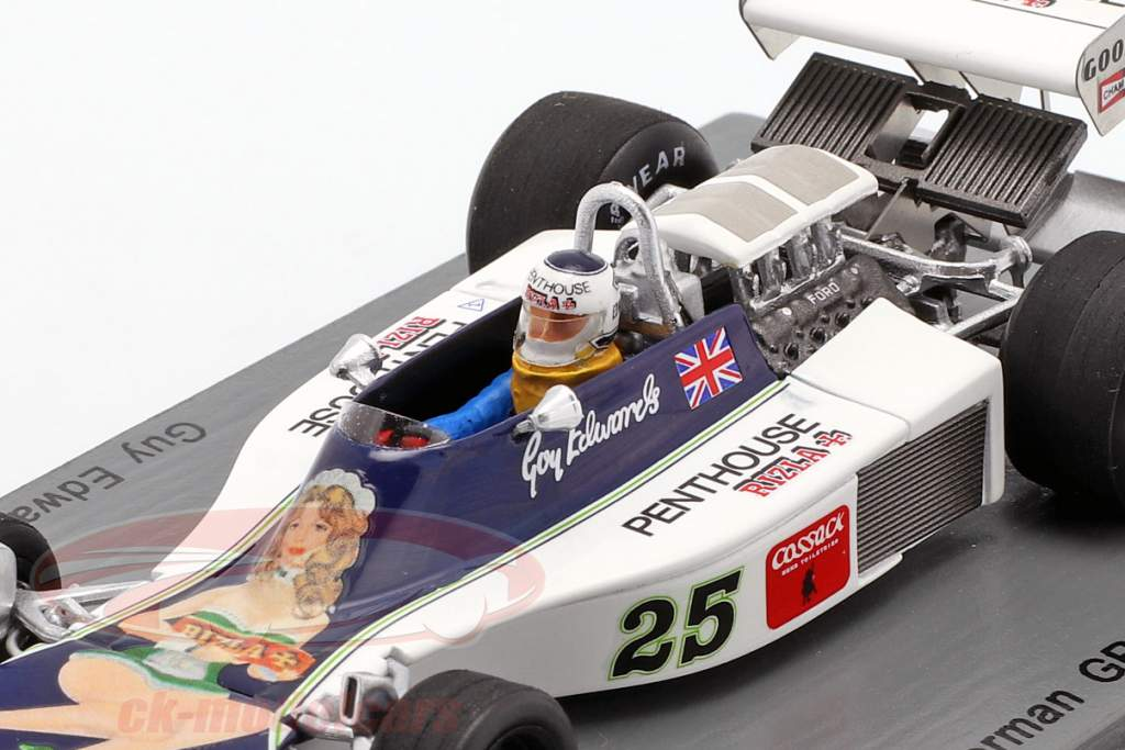 Guy Edwards Hesketh 308D #25 tedesco GP formula 1 1976 1:43 Spark