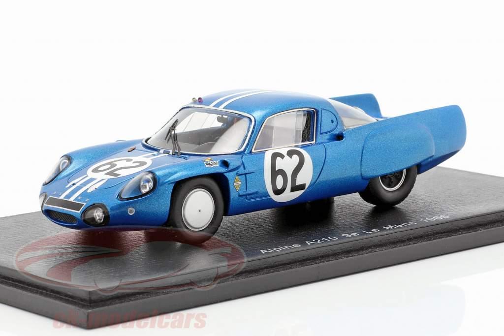 Alpine A210 #62 classe gagnant 24h LeMans 1966 Grandsire, Cella 1:43 Spark