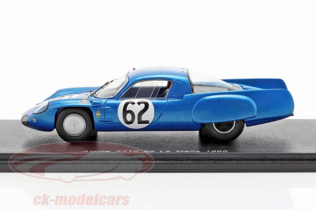 Alpine A210 #62 classe vincitore 24h LeMans 1966 Grandsire, Cella 1:43 Spark