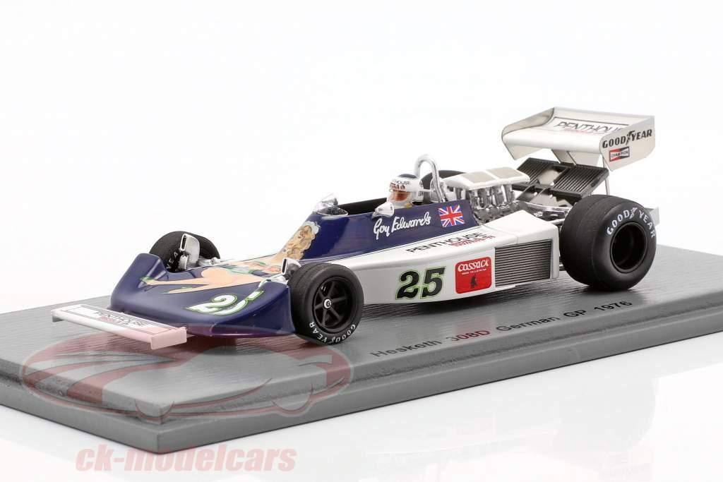 Guy Edwards Hesketh 308D #25 alemán GP fórmula 1 1976 1:43 Spark
