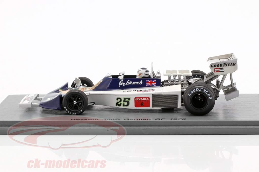 Guy Edwards Hesketh 308D #25 tysk GP formel 1 1976 1:43 Spark