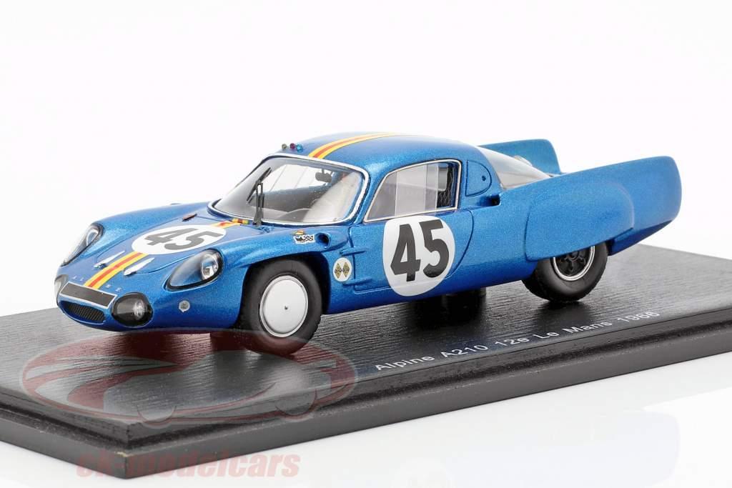 Alpine A210 #45 24h LeMans 1966 G. Verrier, R. Bouharde 1:43 Spark