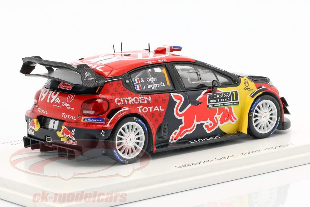 Citroen C3 WRC #1 ganador Rallye Monte Carlo 2019 Ogier, Ingrassia 1:43 Spark