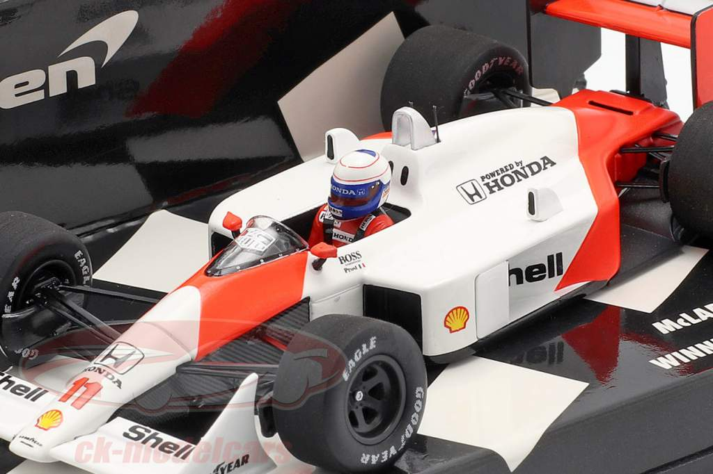 Alain Prost McLaren MP4/4 #11 Vinder brasiliansk GP formel 1 1988 1:43 Minichamps