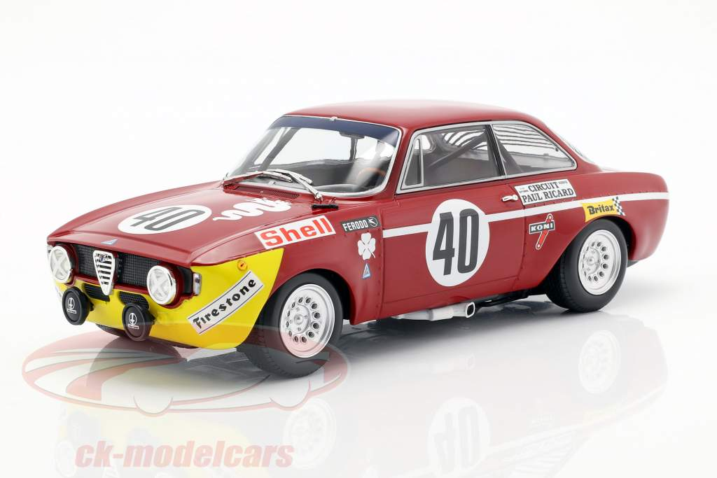 Alfa Romeo GTA 1300 Junior #40 Winner Div.1 12h Paul Ricard 1971 1:18 Minichamps