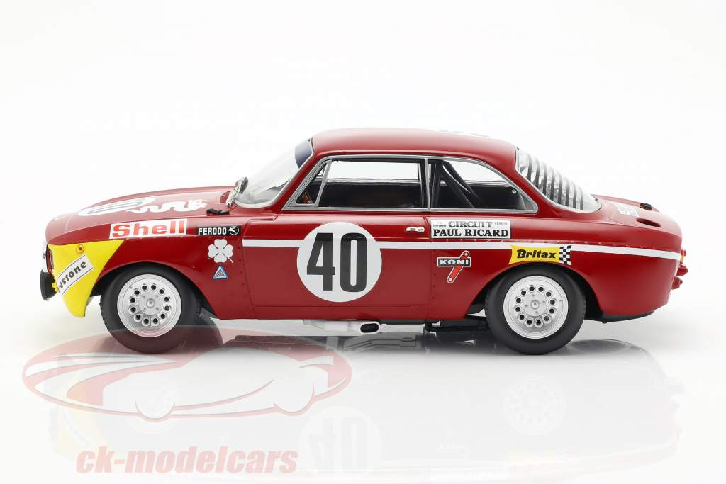 Alfa Romeo GTA 1300 Junior #40 vencedor Div.1 12h Paul Ricard 1971 1:18 Minichamps