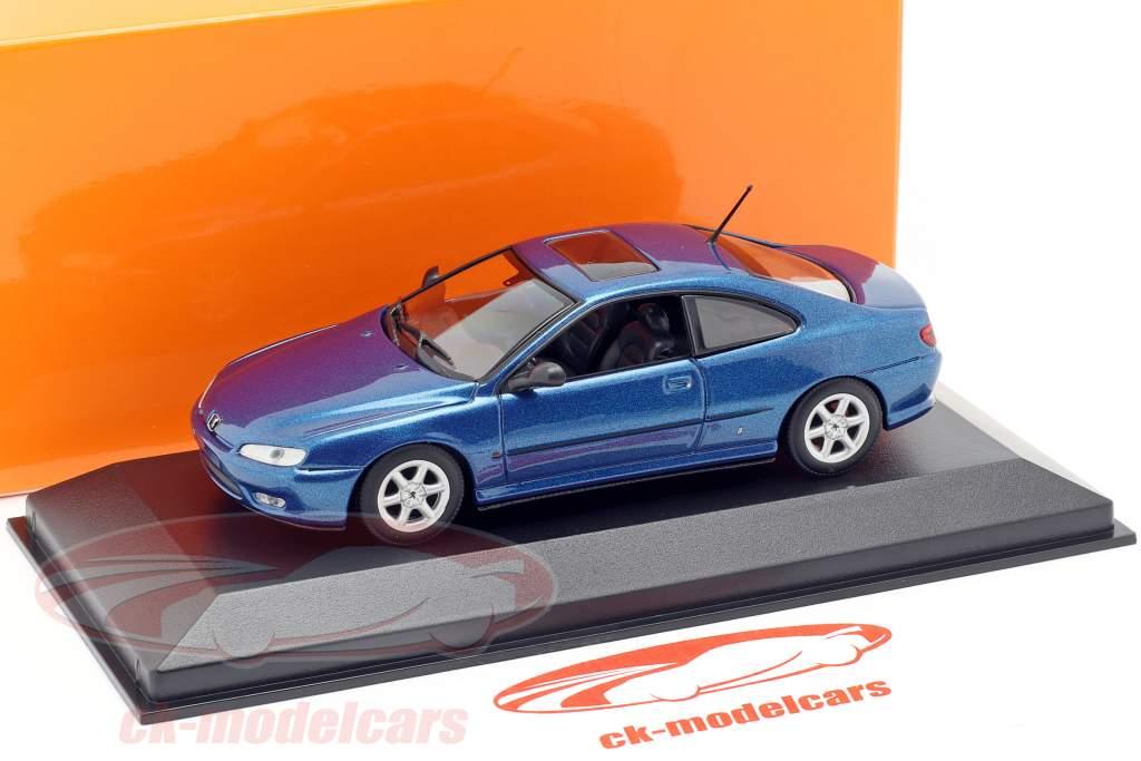 Peugeot 406 Coupe ano de construção 1997 azul metálico 1:43 Minichamps